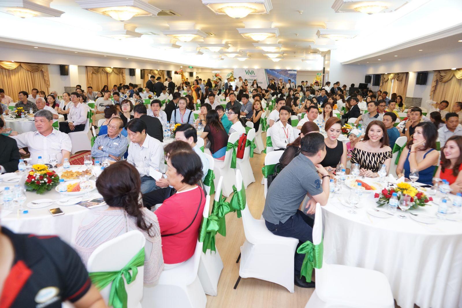 Khách hàng và đối tác có mặt tại sự kiện mở bán căn hộ ViVa Riverside