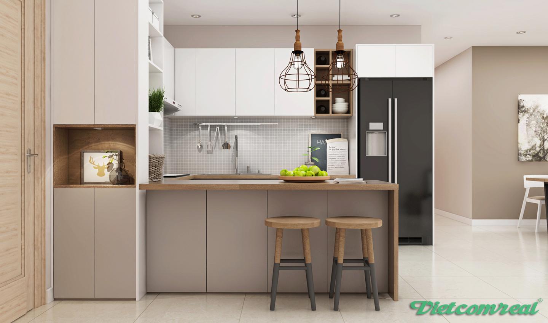 Phòng bếp hiện đại tại chung cư viva riverside