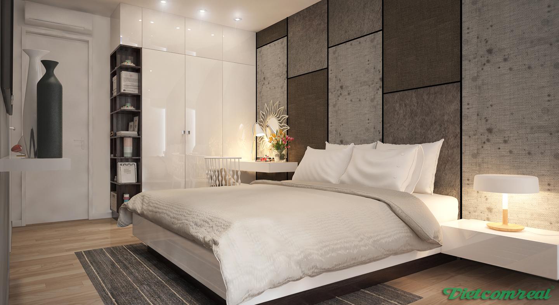 phòng ngủ master căn hộ 2PN  viva riverside