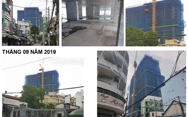 tiến độ xây dựng căn hộ ventosa Quận 5 tháng 9 năm 2019