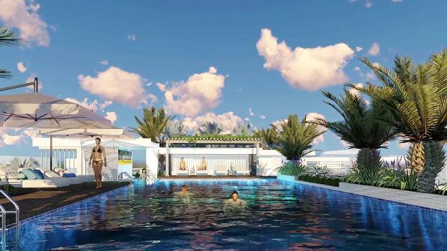 Hồ bơi skyview tại dự án ventosa Tân Thành