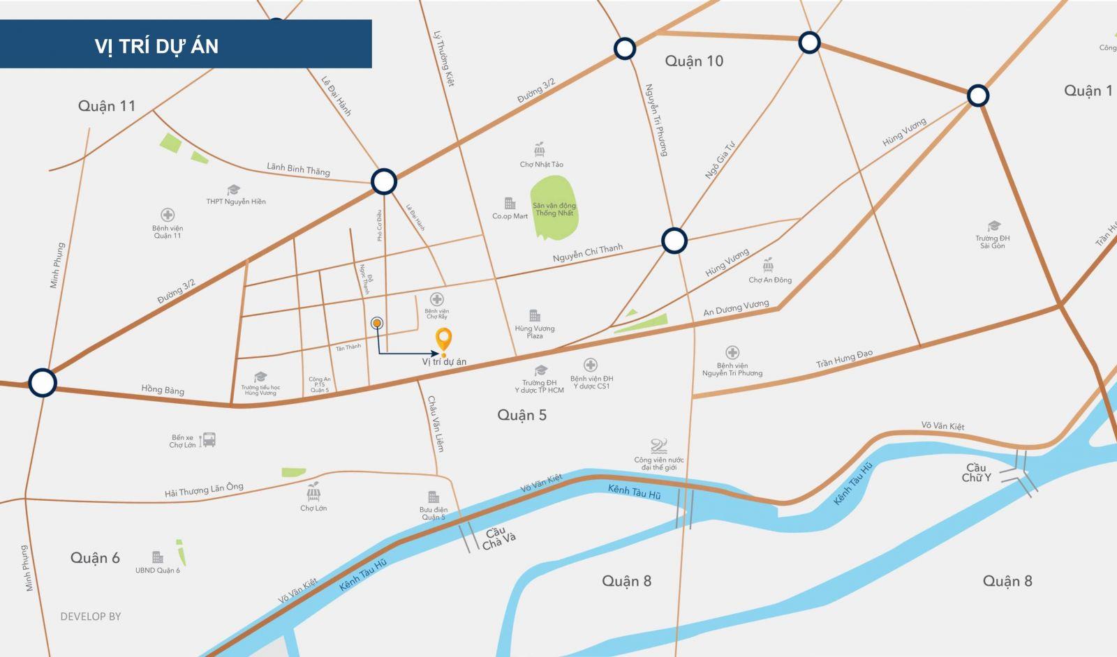 vị trí dự án venus luxury quận 5