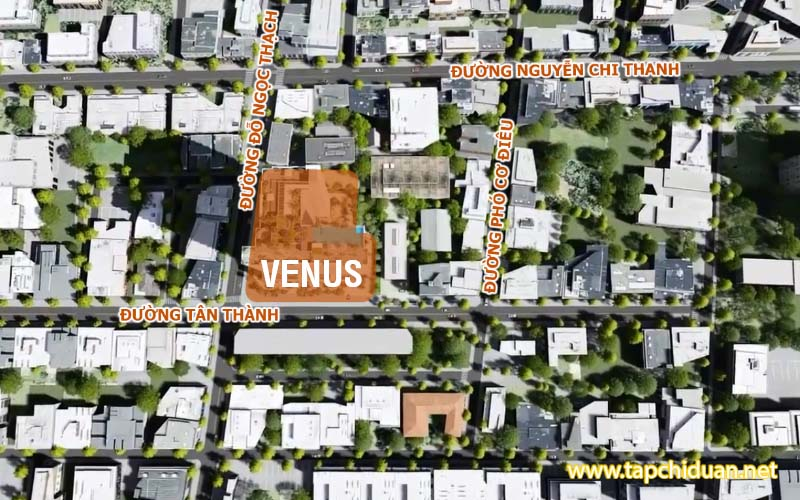 vị trí dự án căn hộ venus tân thành quận 5